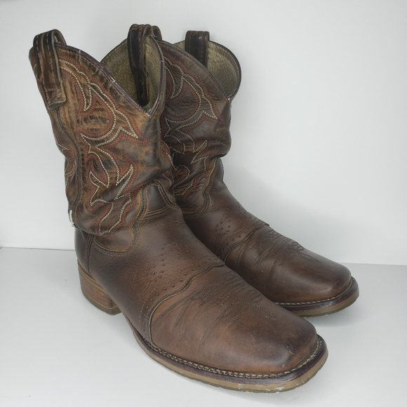 Doubleh Square Toe Ice Roper Western